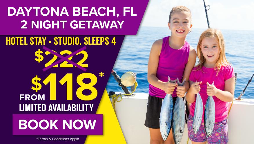 Daytona Beach, FL 2 Night Getaway from $118* Limited Availability