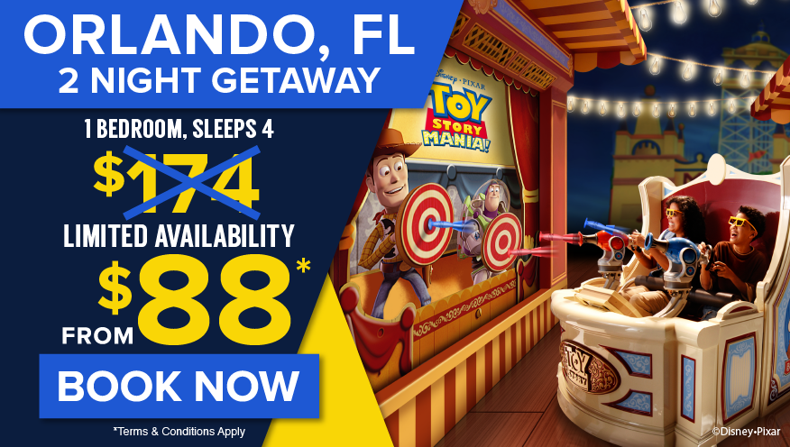 Orlando, FL, 2 Night Getaway from $88* Limited Availability, Book Now